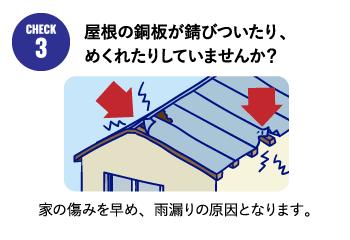 屋根の銅板が錆びついたり、めくれたりしていませんか?